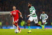 Odsonne Edouard (#22) of Celtic on the ball during the Betfred Cup Final between Celtic and Aberdeen at Celtic Park, Glasgow, Scotland on 2 December 2018.