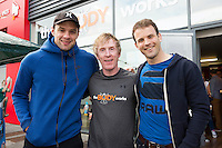 13/09/2015  Niall Breslin, Bessie, Hector o hEochagain and David Collins, Galway hurling Captain at the official opening of the body works  a gym in Galway city.<br /> Photo:Andrew Downes, xposure<br /> The Body Works Galway is Galway&rsquo;s newest fitness studio. We are located adjacent to Parkmore in Briarhill Business park about a seven minute walk from the Parkmore Industrial Estate and Briarhill Shopping Centre.<br /> <br /> The fitness studio consists of a spinning studio at ground floor and a fitness studio at first floor where we provide classes in Kettlebells, Pilates, Yoga,TRX, Body Pump and Circuits . We have 16 spinning bikes (cardio machines) in our spinning studio.