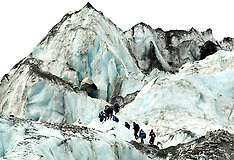 Fox Glacier-File photos of trekkers on Fox Glacier