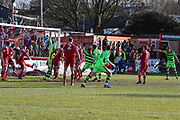 Forest Green Rovers Reuben Reid(26) scores a goal 1-1 and celebrates during the EFL Sky Bet League 2 match between Accrington Stanley and Forest Green Rovers at the Wham Stadium, Accrington, England on 17 March 2018. Picture by Shane Healey.