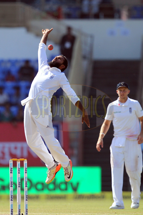 Adil Rashid of England during day 3 of the first test match between India and England held at the Saurashtra Cricket Association Stadium , Rajkot on the 11th November 2016.Photo by: Prashant Bhoot/ BCCI/ SPORTZPICS