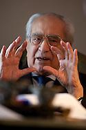 Potenza (PZ) 21.10.2010 Italy - Il senatore a vita Emilio Colombo nella sua casa di Potenza.