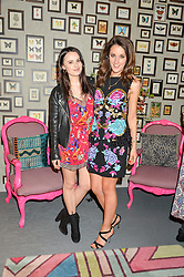 Left to right, sisters VENETIA FALCONER and ROSANNA FALCONER at the launch of Matthew Williamson's 'Sea to Shore' range for The Outnet.com held at the Matthew Williamson's showroom, Studio 10-11, 135 Salusbury Road, London NW6 on 5th May 2016