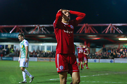 Kayden Jackson of Accrington Stanley cuts a frustrated figure - Mandatory by-line: Robbie Stephenson/JMP - 17/04/2018 - FOOTBALL - Wham Stadium - Accrington, England - Accrington Stanley v Yeovil Town - Sky Bet League Two
