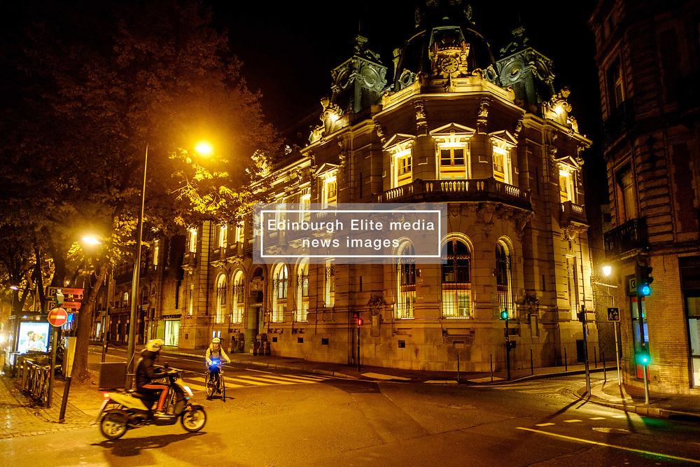 Night time street scene in the Rue du Languedoc, Toulouse, France<br /> <br /> (c) Andrew Wilson   Edinburgh Elite media