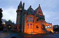 Craigdarroch Castle, a Victorian-era mansion built by coal baron Robert Dunsmuir in the 1890s includes over 4 floors and 39 rooms.  The castle is now owned by the Craigdarroch Castle Historical Museum Society.  Victoria, Vancouver Island, British Columbia, Canada.