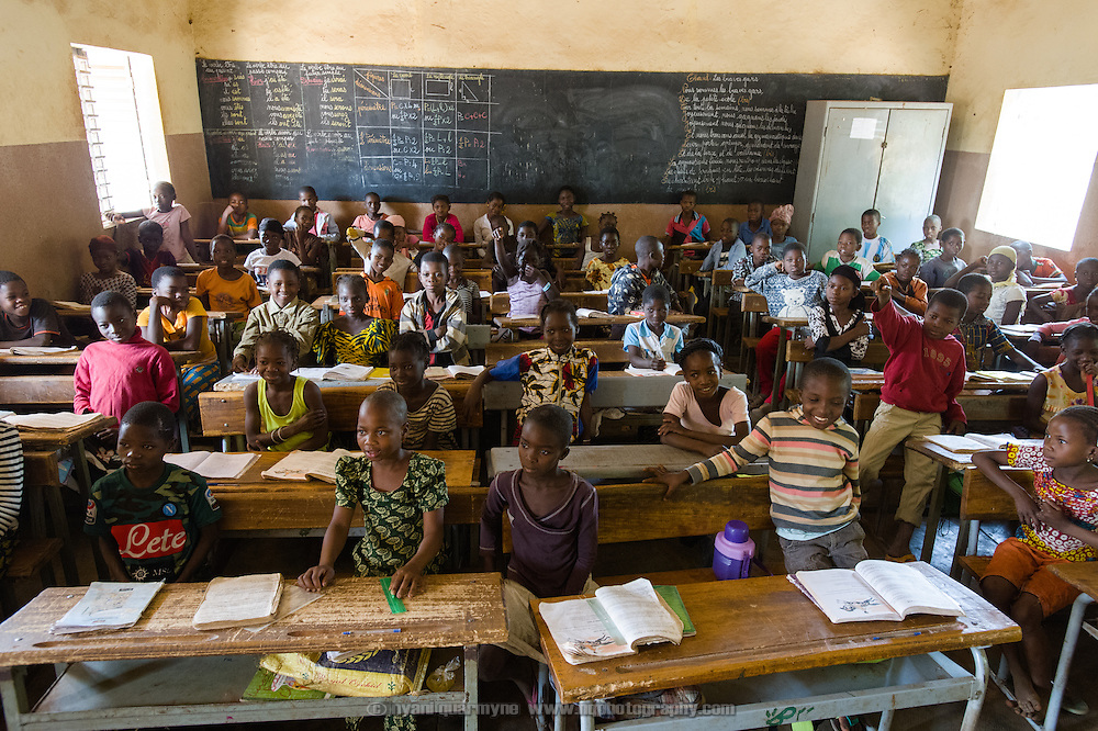 Students in class at a school in the village of Toussiana in the Hauts-Bassins region of Burkina Faso, on 22 February 2016.