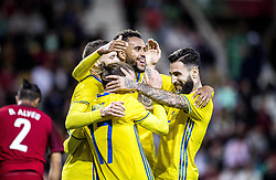 March 28, 2017 - Funchal, Madeira, Portugal - Swedens Marcus Berg, Niklas Hult, Isaac Kiese Thelin, Jimmy Durmaz celebrates the victory...Sweden defeated Portugal 3-2 in a friendly game at Estadio do Maritimo, Madeira, Portugal 2017-03-28..(c) ERICSSON MARCUS  / Aftonbladet / IBL BildbyrÃ¥....* * * EXPRESSEN OUT * * *....AFTONBLADET / 85729 (Credit Image: © Aftonbladet/IBL via ZUMA Wire)