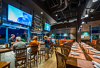 Interior image of  Rocket City Tavern at Redstone Gateway in Huntsville Alabama by Jeffrey Sauers of Commercial Photographics, Architectural Photo Artistry in Washington DC, Virginia to Florida and PA to New England