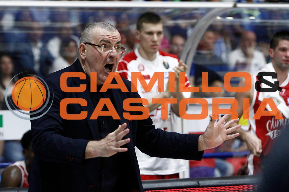 Coach Repesa<br />Betaland Capo D'Orlando Vs EA7 Emporio Armani Olimpia Milano<br />Playoff Gara 4<br />LegaBasket 2016/2017<br />Capo d&rsquo;Orlando 18/05/2017<br />Foto Ciamillo-Castoria