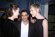 Jasmine Guinness, Zac Posen and Jade Parfait.  Zac Posen Spring/ Summer collection launch party. The Blue Bar, Berkeley Hotel. London. 7 March 2004. Dafydd Jones,  ONE TIME USE ONLY - DO NOT ARCHIVE  © Copyright Photograph by Dafydd Jones 66 Stockwell Park Rd. London SW9 0DA Tel 020 7733 0108 www.dafjones.com