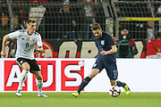 Adam Lallana of England battles with Toni Kroos of Germany during the International Friendly match between Germany and England at Signal Iduna Park, Dortmund, Germany on 22 March 2017. Photo by Phil Duncan.