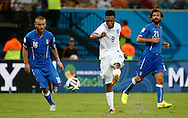 Daniel Sturridge of England shoots for goal during the 2014 FIFA World Cup match at Arena da Amazonia, Manaus<br /> Picture by Andrew Tobin/Focus Images Ltd +44 7710 761829<br /> 14/06/2014