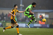 Forest Green Rovers Reuben Reid(26) controls the ball during the EFL Sky Bet League 2 match between Forest Green Rovers and Cambridge United at the New Lawn, Forest Green, United Kingdom on 20 January 2018. Photo by Shane Healey.