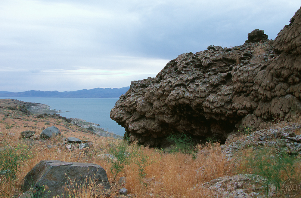 &quot;Tufa at Pyramid Lake, Nevada&quot; - This tufa formation was photographed on the east shore of Pyramid Lake, Nevada. <br />