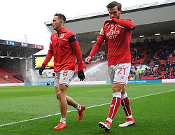 Josh Brownhill and Marlon Pack of Bristol City- Mandatory by-line: Nizaam Jones/JMP - 17/03/2018 - FOOTBALL - Ashton Gate Stadium- Bristol, England - Bristol City v Ipswich Town - Sky Bet Championship