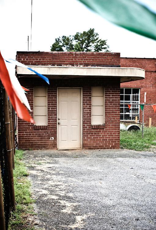 Abandoned car sales office in Charlotte, North Carolina