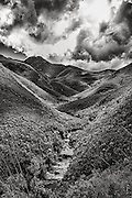 Black and White image of the Outeniqua Pass, George