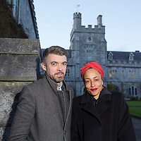 FREE IMAGE-NO REPRO FEE. Northern Irish poet, Nick Laird and prize-winning English novelist, Zadie Smith took the stage together in the second of UCC's 2015 series of readings on Monday, February 16. Tyrone-born Laird has published three collections of poetry – To a Fault, On Purpose and Go Giants. He has been awarded the Somerset Maugham Award and the Geoffrey Faber Memorial Prize. He has also written two novels, Utterly Monkey – which won the Betty Trask Prize – and Glover's Mistake. Smith is the author of four novels, including White Teeth, NW and On Beauty, which won the 2006 Orange Prize and was shortlisted for the Man Booker Award. Photographed were: Nick Laird and Zadie Smith. Photo by Tomas Tyner, UCC.