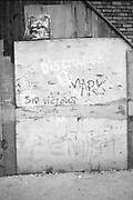 Punk Graffiti on Derelict Building, High Wycombe, UK, 1980's