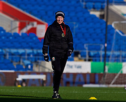 CARDIFF, WALES - Thursday, November 23, 2017: Wales' manager Jayne Ludlow during a training session ahead of the FIFA Women's World Cup 2019 Qualifying Round Group 1 match between Wales and Kazakhstan at the Cardiff City Stadium. (Pic by David Rawcliffe/Propaganda)