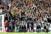 Supporters Bordeaux / joie groupe - 23.05.2015 - Bordeaux / Montpellier - 38e journee Ligue 1<br />Photo : Nolwenn Le Gouic / Icon Sport