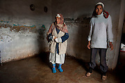 "Sejenane is a forgotten city: 63% unemployment, poverty is widespread..Here 2 residents of the ""French village"" a slum that occupies houses dating from 1911 in the former iron mine.<br />