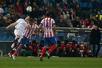 31.01.2013 SPAIN - Copa del Rey 12/13 Matchday 1/4  match played between Atletico de Madrid vs Sevilla Futbol Club (2-1) at Vicente Calderon stadium. The picture show Joao Miranda de Souza (Brazilian defender of At. Madrid)