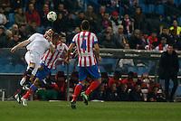 31.01.2013 SPAIN - Copa del Rey 12/13 Matchday 1/4  match played between Atletico de Madrid vs Sevilla Futbol Club (2-1) at Vicente Calderon stadium. The picture show Joao Miranda de Souza (Brazilian defender of At. Madrid)