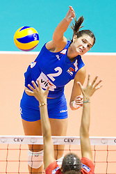 24.09.2011, Hala Pionir, Belgrad, SRB, Europameisterschaft Volleyball Frauen, Vorrunde Pool A, Serbien (SRB) vs. Frankreich (FRA), im Bild Jovana Brakocevic (#2 SRB) // during the 2011 CEV European Championship, First round at Hala Pionir, Belgrade, SRB, 2011-09-24. EXPA Pictures © 2011, PhotoCredit: EXPA/ nph/  Kurth       ****** out of GER / CRO  / BEL ******