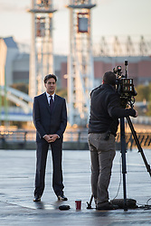 © Licensed to London News Pictures . 24/09/2014 . Media City , Salford , UK . ED MILIBAND is interviewed for television at Salford's Media City this morning (Wednesday 24th September 2014)  . Photo credit : Joel Goodman/LNP