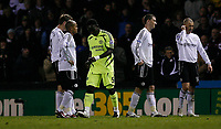 Photo: Steve Bond/Sportsbeat Images.<br />Derby County v Chelsea. The FA Barclays Premiership. 24/11/2007. Michael Essien (C) heads for the tunnel after being sent off