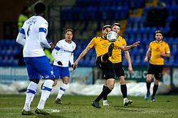 Edward Upson of Bristol Rovers controls the ball - Mandatory by-line: Robbie Stephenson/JMP - 11/02/2020 - FOOTBALL - Prenton Park - Birkenhead, England - Tranmere Rovers v Bristol Rovers - Sky Bet League One