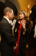 Jonathan Newhouse and Anna Wintour. charles Finch and Chanel 6th Anniversary Pre-Bafta party to celebratew A Great Year of Film and Fashion Beyond the Red Carpet at Annabel's. Berkeley Sq. London W1. 18 February 2006. ONE TIME USE ONLY - DO NOT ARCHIVE  © Copyright Photograph by Dafydd Jones 66 Stockwell Park Rd. London SW9 0DA Tel 020 7733 0108 www.dafjones.com