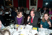 CHARLOTTE DE BOTTON; CHARLES MOORE; KATIE WALDEGRAVE, Literary charity First Story fundraising dinner. Cafe Anglais. London. 10 May 2010. *** Local Caption *** -DO NOT ARCHIVE-© Copyright Photograph by Dafydd Jones. 248 Clapham Rd. London SW9 0PZ. Tel 0207 820 0771. www.dafjones.com.<br /> CHARLOTTE DE BOTTON; CHARLES MOORE; KATIE WALDEGRAVE, Literary charity First Story fundraising dinner. Cafe Anglais. London. 10 May 2010.