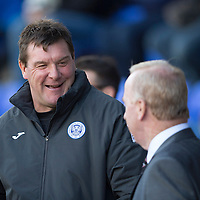 St Johnstone v St Mirren....04.10.14   SPFL<br /> Tommy Wright and Tommy Craig talk prior to kick off<br /> Picture by Graeme Hart.<br /> Copyright Perthshire Picture Agency<br /> Tel: 01738 623350  Mobile: 07990 594431