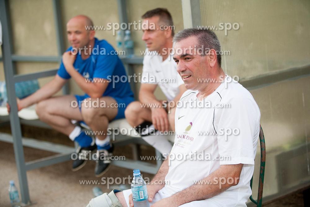 Roman Volcic na dobrodelni nogometni tekmi SD Bilje, katere izkupicek je namenjen Zavodu Lu ter Fundaciji Vrabcek upanja, on June 22, 2013 in Bilje pri Novi Gorici, Slovenia. (Photo by Vid Ponikvar / Sportida.com)