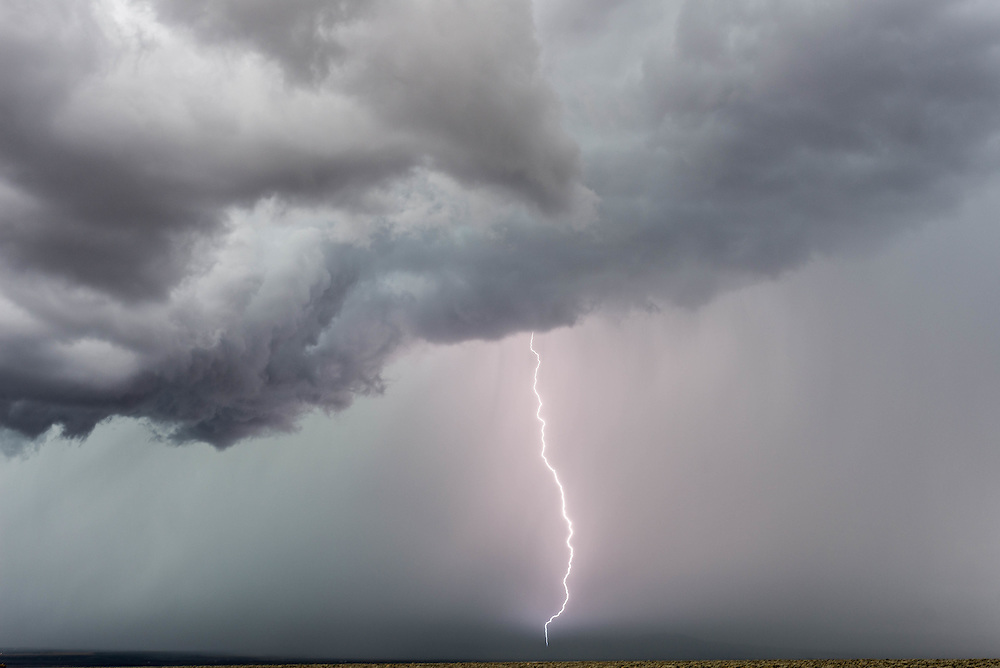 A lightning bolt during a storm, just outside of Taos, NM