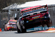 Chaz Mostert in the Supercheap Auto Racing Ford Falconduring Friday practice at The 2018 Vodafone Supercar Gold Coast 600 in Queensland.
