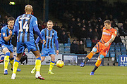 GOAL Wycombe Wanderers defender Adam El-Abd (6) scores during the EFL Sky Bet League 1 match between Gillingham and Wycombe Wanderers at the MEMS Priestfield Stadium, Gillingham, England on 15 December 2018.