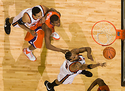 Virginia forward Adrian Joseph (30) shoots against Clemson.  The Virginia Cavaliers men's basketball team fell the Clemson Tigers at 82-51 the John Paul Jones Arena in Charlottesville, VA on February 7, 2008.