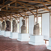Ancient stone statues recovered from nearby Zapatera Island on display at the Centro Cultural Convento San Francisco. The statues are dated to around 800-1200 AD. The The Centro Cultural Convento San Francisco, located just a couple of blocks from Parque Central in Granada, is dedicated to the history of the region.
