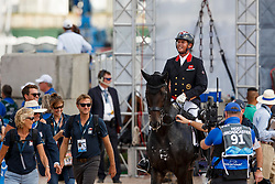 Hester Carl, GBR, Hawtins Delicato<br /> Tryon - FEI World Equestrian Games™ 2018<br /> Backgroundbilder vom Abreiteplatz<br /> Grand Prix de Dressage Teamwertung und Einzelqualifikation<br /> 13. September 2018<br /> © www.sportfotos-lafrentz.de/Sharon Vandeput