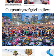 June 14, 2016 inside photo page of the Tampa Bay Times. Photos by Chris Urso, Loren Elliott, Luis Santana and Zack Wittman, edited by Boyzell Hosey.