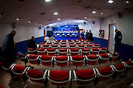 MADRID, persconferentie en training PSV, 22-11-2016, voetbal, Champions League, seizoen 2016-2017, Estadio Vicente Calderon, overzicht perskamer.