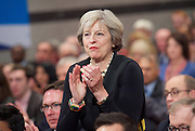 Conservative Party Conference <br /> Day 1 <br /> 2nd October 2016 <br /> At the ICC, Birmingham, Great Britain <br /> <br /> Theresa May <br /> <br /> <br /> <br /> Photograph by Elliott Franks <br /> Image licensed to Elliott Franks Photography Services