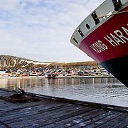 Three weeks aboard the Kong Harald. Hurtigruten, the Coastal Express. Kjollefojord, Lebesby.