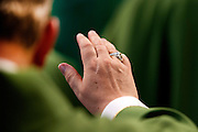 Vatican City oct 4th 2015, opening mass in St Peter's Basilica for  the bishops synod on family. In the picture the hand with the ring of a bishop