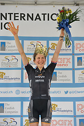 ELISA LONGO BORGHINI of Italy, with team Wiggle high5 wins the Queen of the Mountain award at the UCI Women's World Tour Philadelphia Cycling Classic on Sunday June 5th, 2016. Pro-cyclist compete at a 73.8miles/118.7km course in Philadelphia Pennsylvania