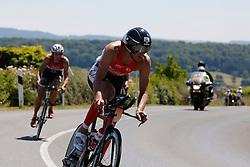 21.06.2014, Remich, LUX, Ergo Ironman 70.3, im Bild Axel Zeebroek (Belgium) auf der Radstrecke // during the Ergo Ironman 70.3 in Remich, Luxembourg on 2014/06/21. EXPA Pictures © 2014, PhotoCredit: EXPA/ Eibner-Pressefoto/ Schueler<br /> <br /> *****ATTENTION - OUT of GER*****